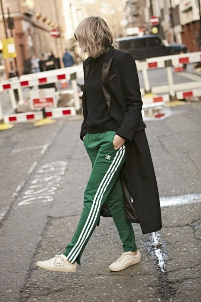 HOW TO STYLE ADIDAS ORIGINALS GREEN BOTTOM