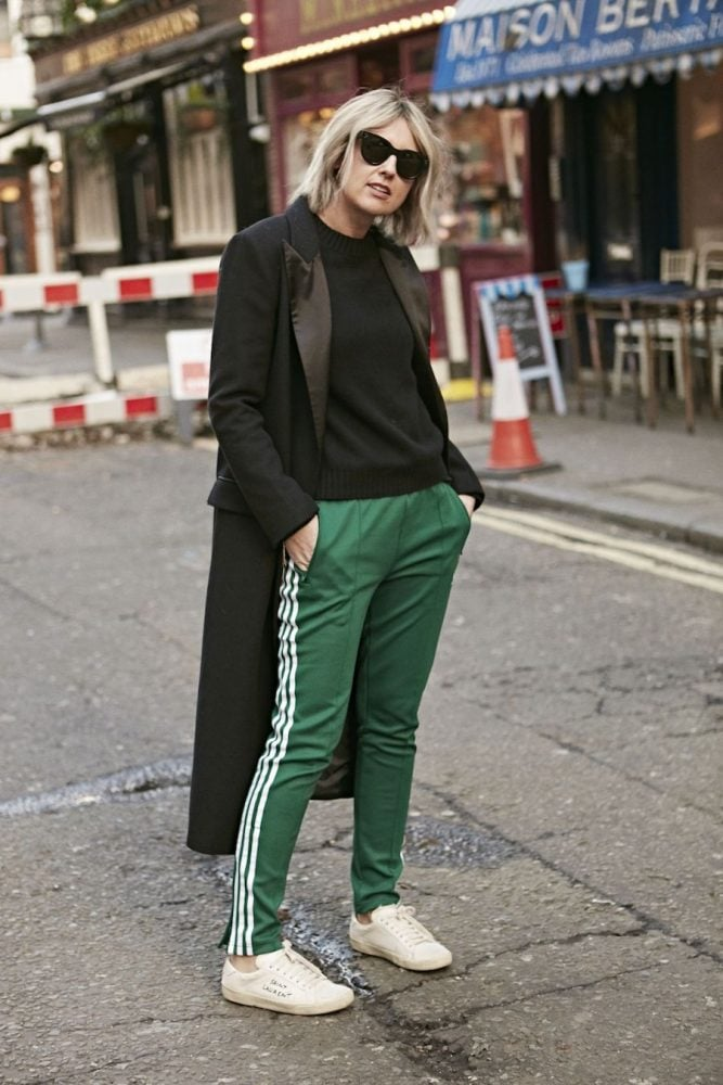 ADIDAS ORIGINALS GREEN BOTTOMS ON EMMAROSESTYLE.COM