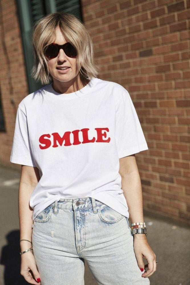 VICTORIA BECKHAM SMILE TEE ON EMMA ROSE STYLE