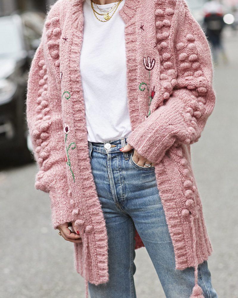 Em wearing Hayley Menzies Gloria Cardigan on Emma Rose Style