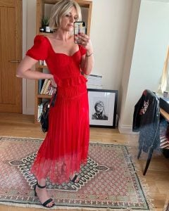 Red Self Portrait Dress on Emma Rose Style