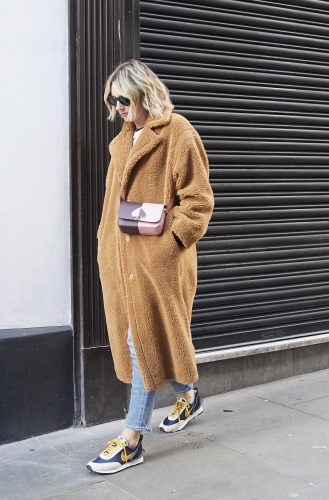Stand Studio Teddy Coat on Emma Rose Style