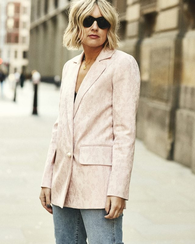 How to style a pink blazer on Emma Rose Style