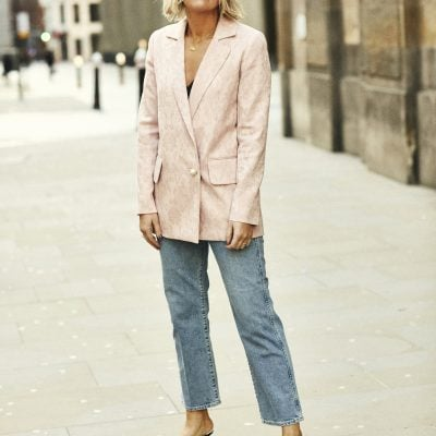 Mother of Pearl Blazer on Emma Rose Style