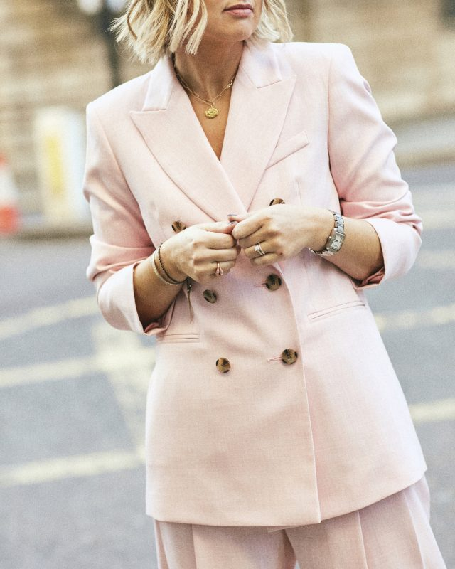 Pink Blazer Topshop on Emma Rose Style