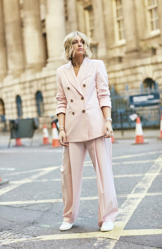Pink Topshop Suit on Emma Rose Style