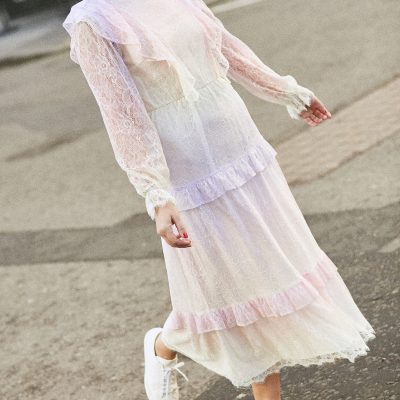 Pastel Lace Olivia Rubin Dress on Emma Rose Style