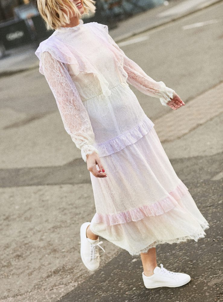 Pastel Lace Olivia Rubin Dress on Emma Rose Style