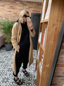 Pangaia Tracksuit & Trench Coat on Emma Rose Style