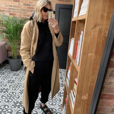 Pangaia Tracksuit & Trench Coat on Emma Rose Style