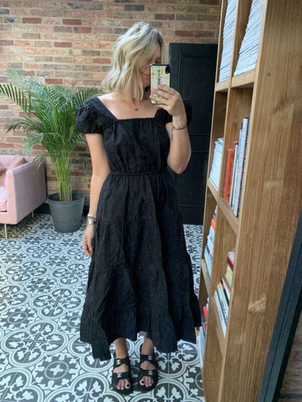 black midi dress on emma rose style