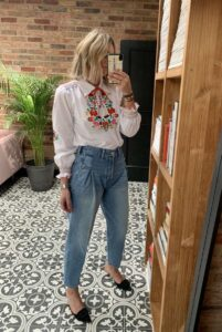 Redone Zoot Jeans on Emma Rose Style