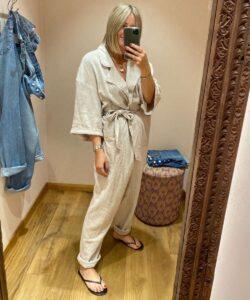 Free People Linen Jumpsuit on Emma Rose Style