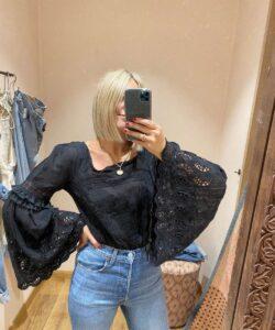 Black Lace Body Free People UK on Emma Rose Style