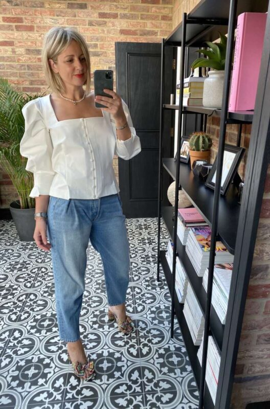 Piece of White Top on Emma Rose Style
