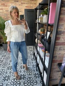 Piece of White Top Emma Rose Style