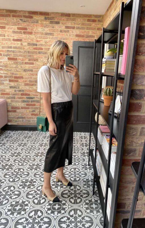 Leather Skirt on Emma Rose Style