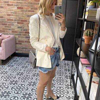 White Blazer outfit on Emma Rose Style