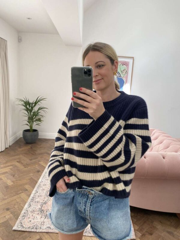 Striped Knits on Emma Rose Style