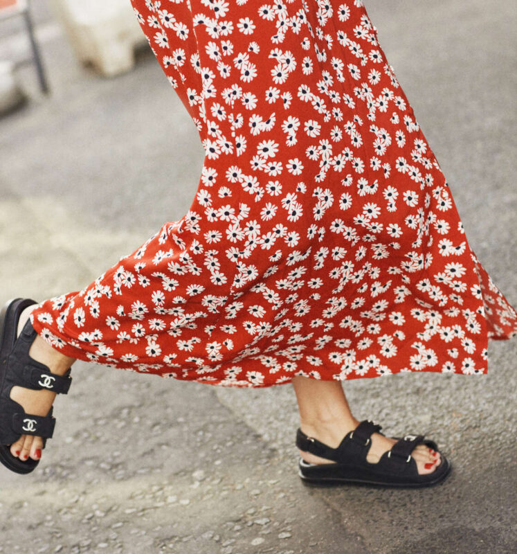 Chanel Sandals on Emma Rose Style