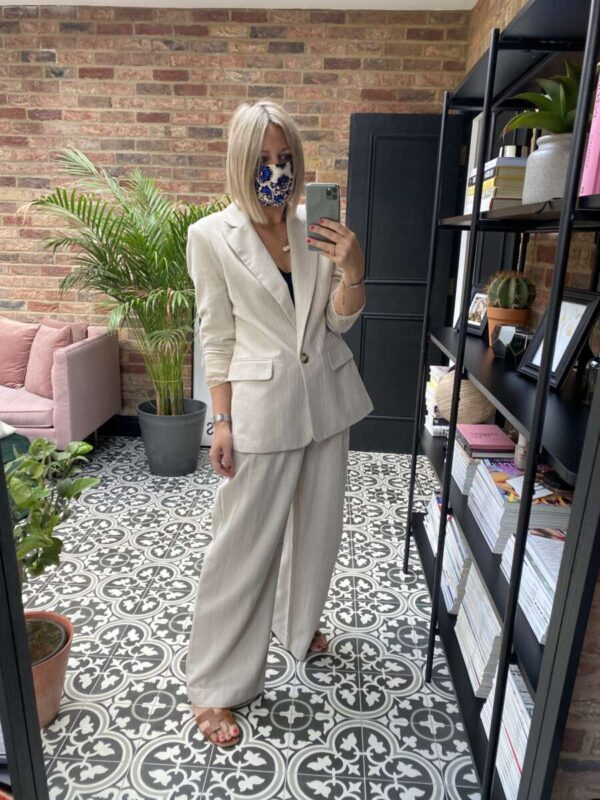 Topshop Linen Suit on Emma Rose Style