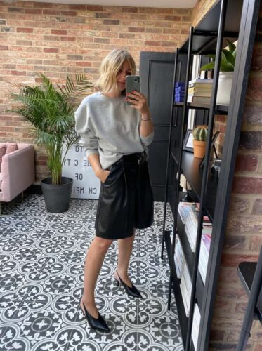 Leather shorts & how to style on emma rose style
