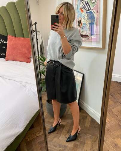 How to style leather shorts on emma rose style