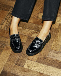 Topshop Penny Loafers on Emma Rose Style