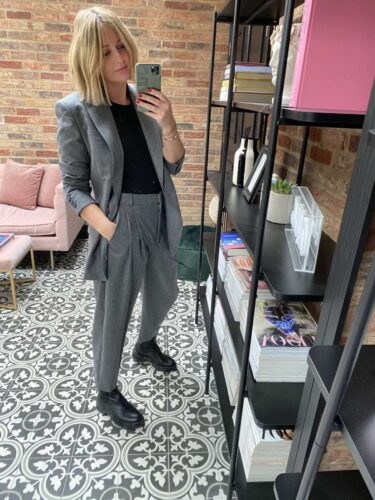 How to style a grey suit on emma rose style