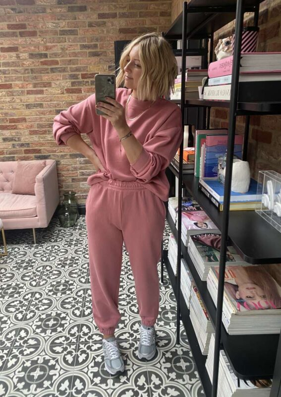 Pink H&M Tracksuit on Emma Rose Style