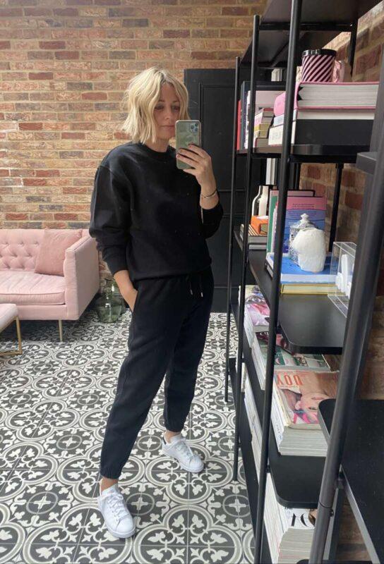 Black H&M Tracksuit on Emma Rose Style