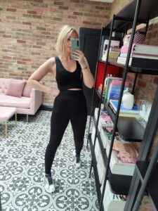 H&M seamless sports tights emma rose style
