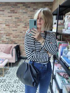 Amazon Fashion Striped Tee on Emma Rose Style