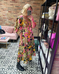 Free People Floral Dress on Emma Rose Style
