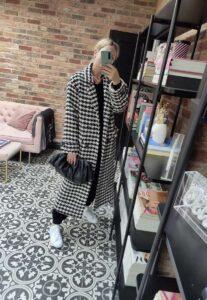 Check H&M coat on Emma Rose Style