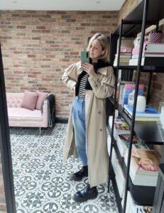 H&M Trench Coat on Emma Rose Style