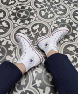 White Converse Amazon Fashion on Emma Rose Style