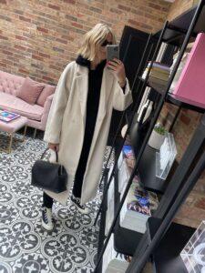 H&M Coat on Emma Rose Style
