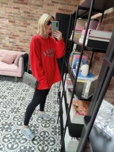 Rotate Sunday Red Sweater on Emma Rose Style