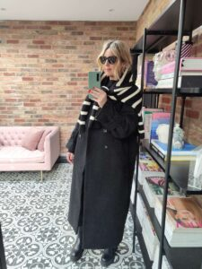 H&M Stripe Jumper on Emma Rose Style