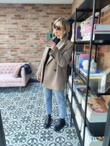 H&M Blazer on Emma Rose Style
