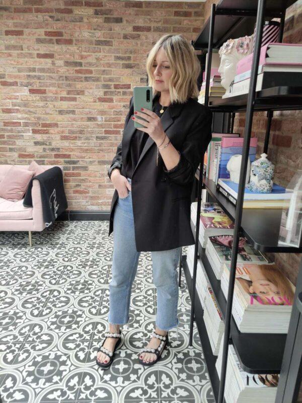 Toteme Blazer on Emma Rose Style