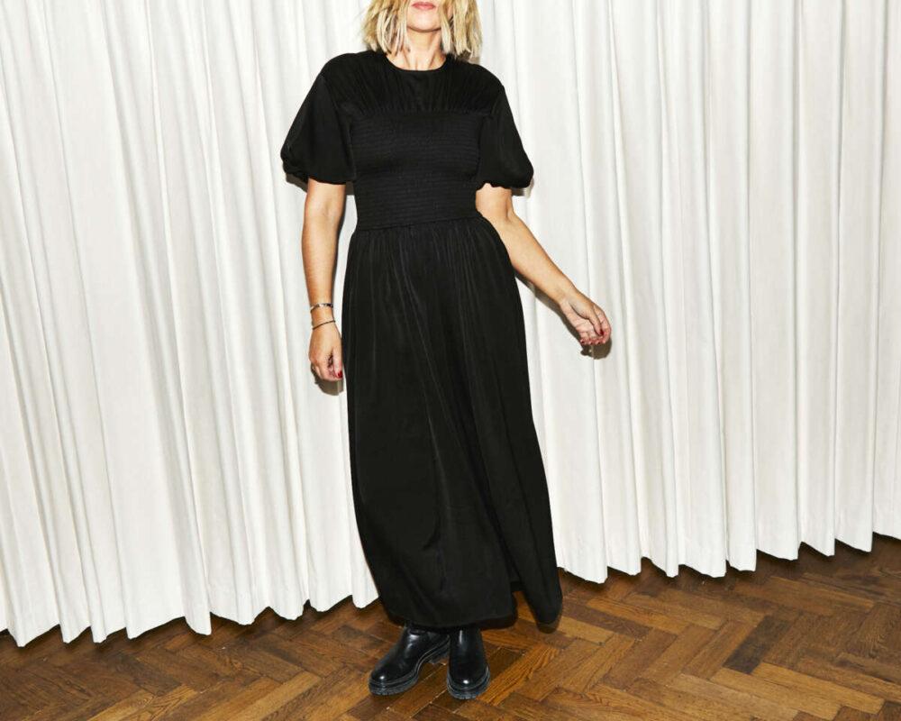 Black Midi Dress on Net-a-Porter