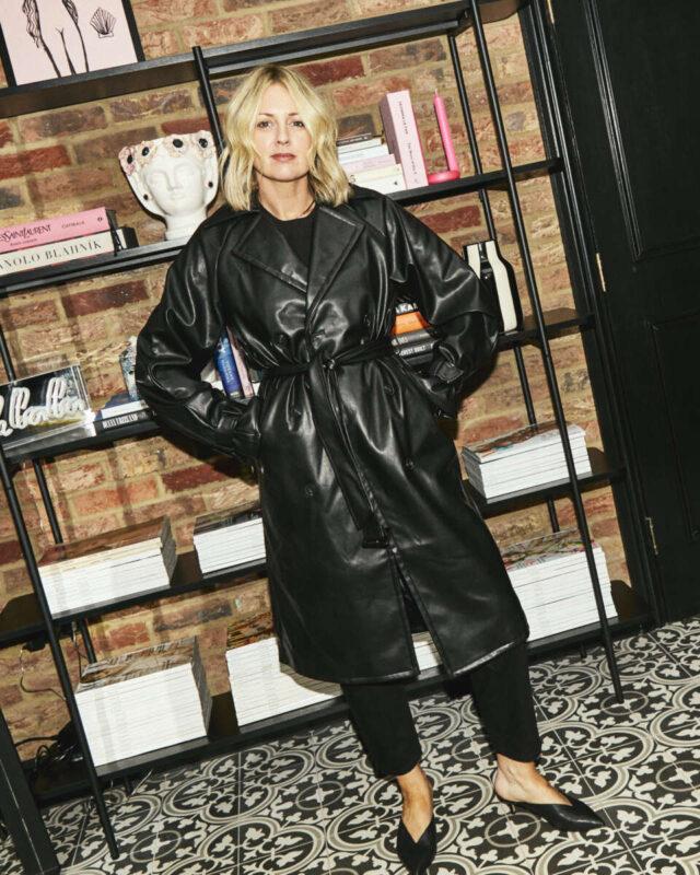 Amazon Fashion Leather Trench on Emma Rose Style