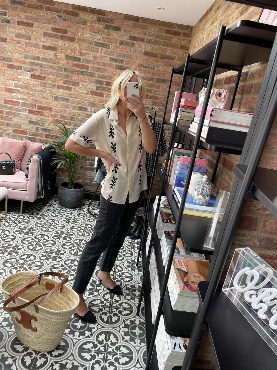 Matteau Silk Shirt Emma Rose Style