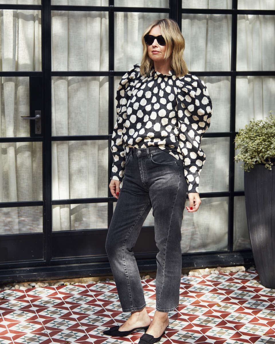 Sea Top with Toteme Jeans on Emma Rose Style