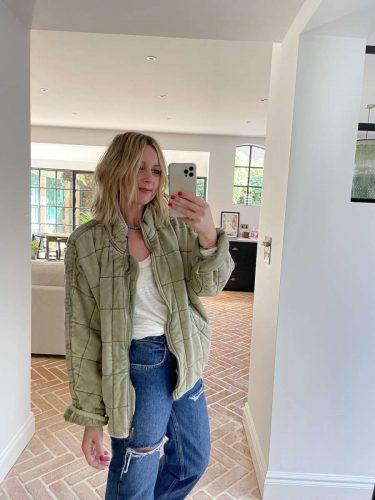 Khaki Jacket Free People Emma Rose Style